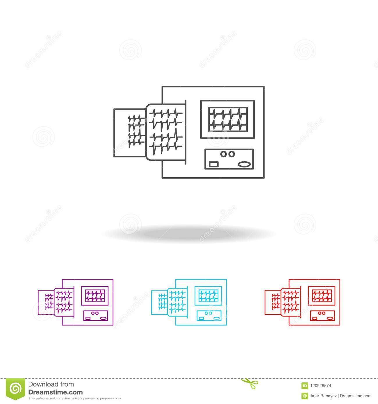 hight resolution of electrocardiogram device and heart pulse on list line icon elements of medical tools in multi colored icons premium quality graphic design icon