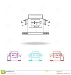 electrocardiogram device and heart pulse on screen line icon elements of medical tools in multi colored icons premium quality graphic design icon  [ 1300 x 1390 Pixel ]