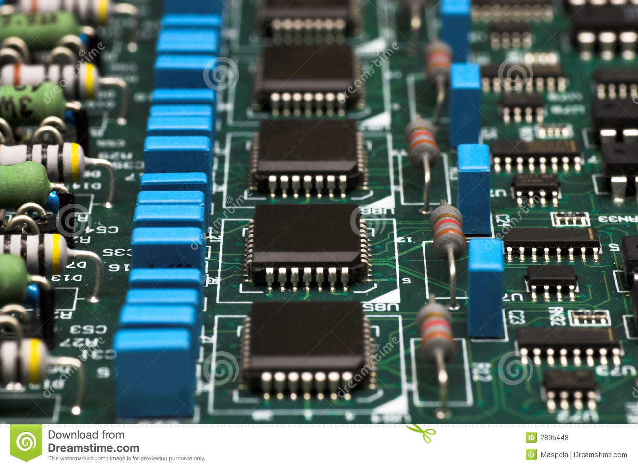Electronic Circuit Board Royalty Free Stock Photos Image 16146698