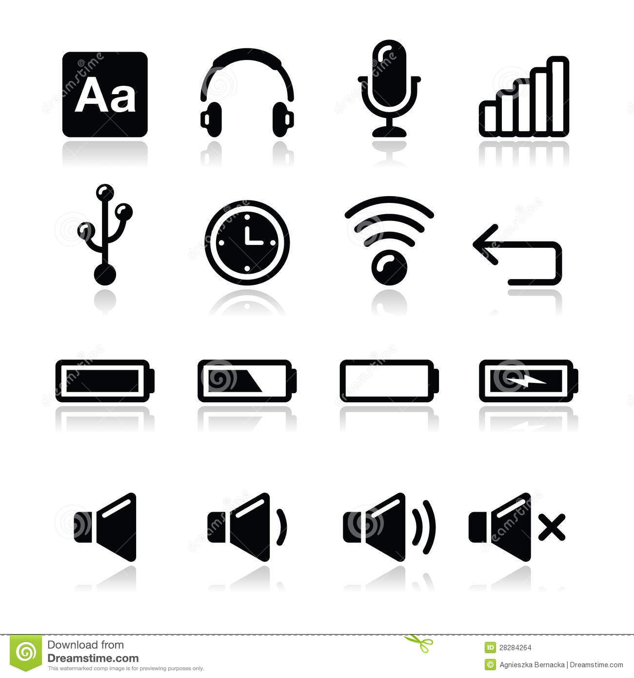 Electronic Device Computer Software Icons Set