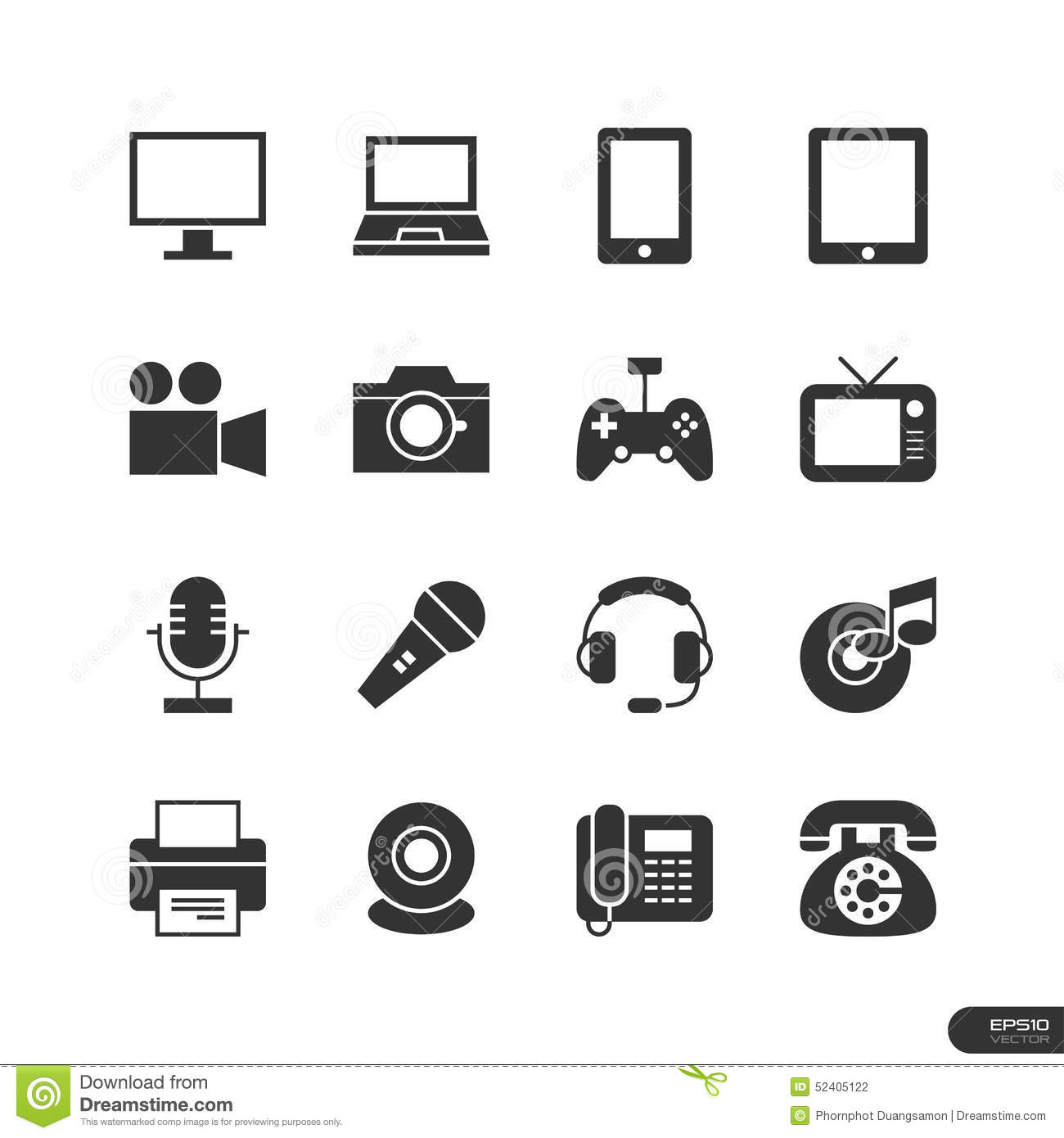 Electronic Device Icons Set