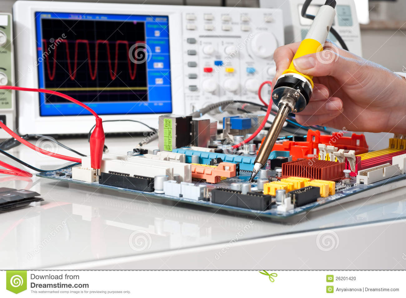Electronic Equipment Repairing In Service Centre Stock Photo  Image of hands hardware 26201420
