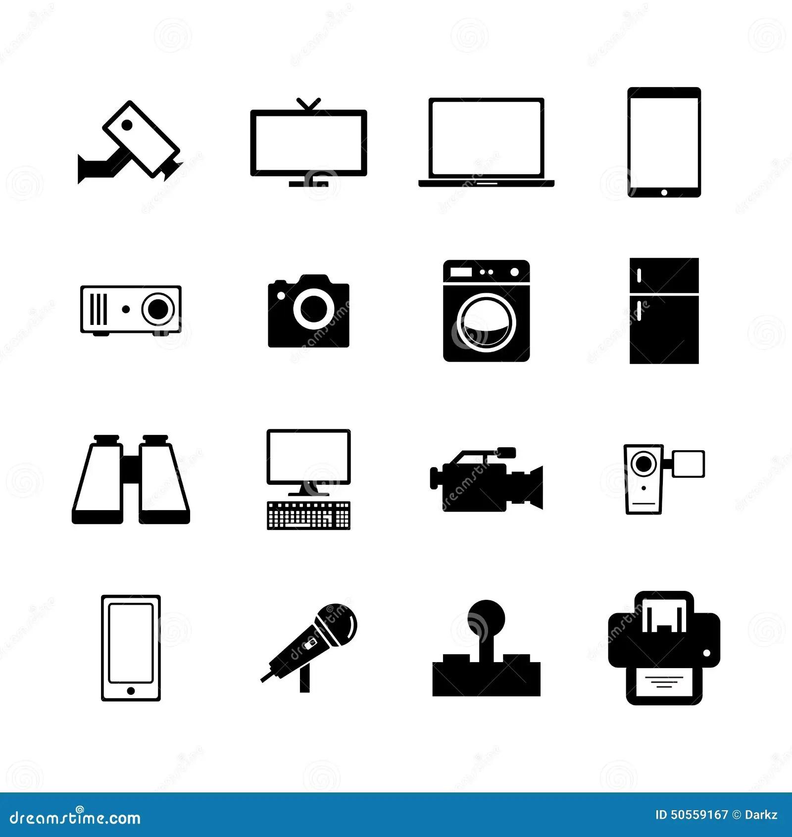 Electronic Icon Stock Image Image Of Binocular Camera