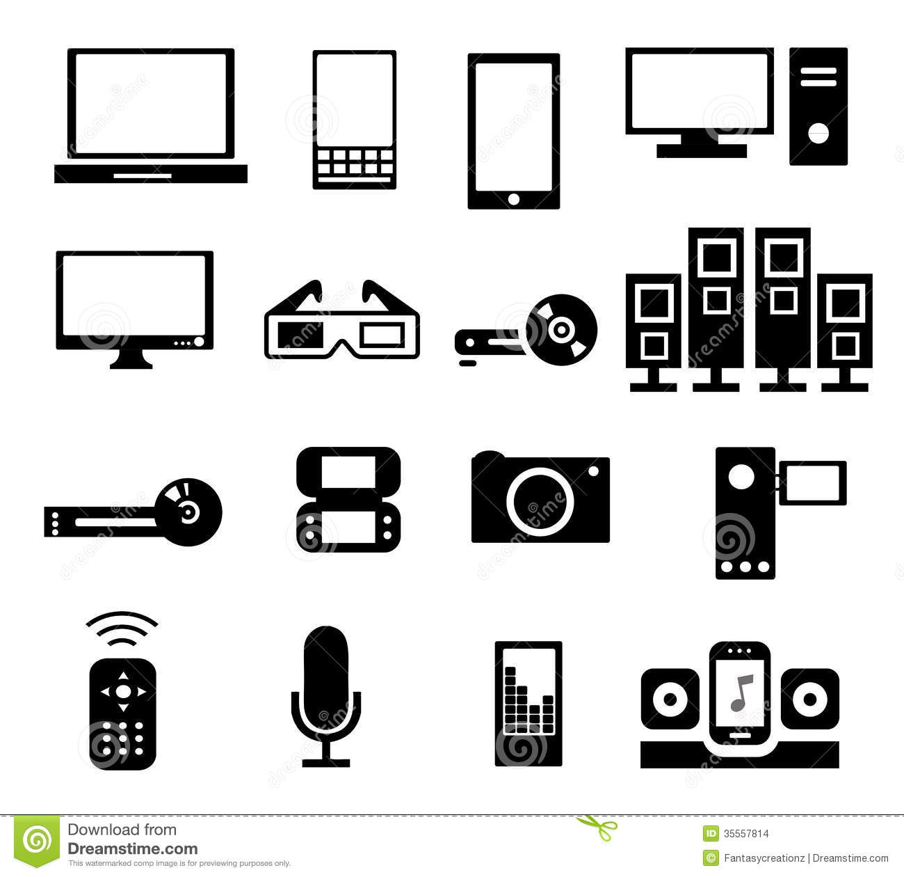 Electronic Icons Stock Vector Image Of Device Definition