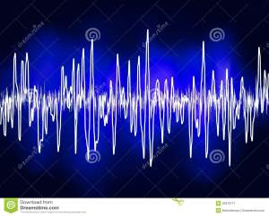 Electronic Sine Sound Or Audio Waves EPS 8 Stock Image  Image: 20375711