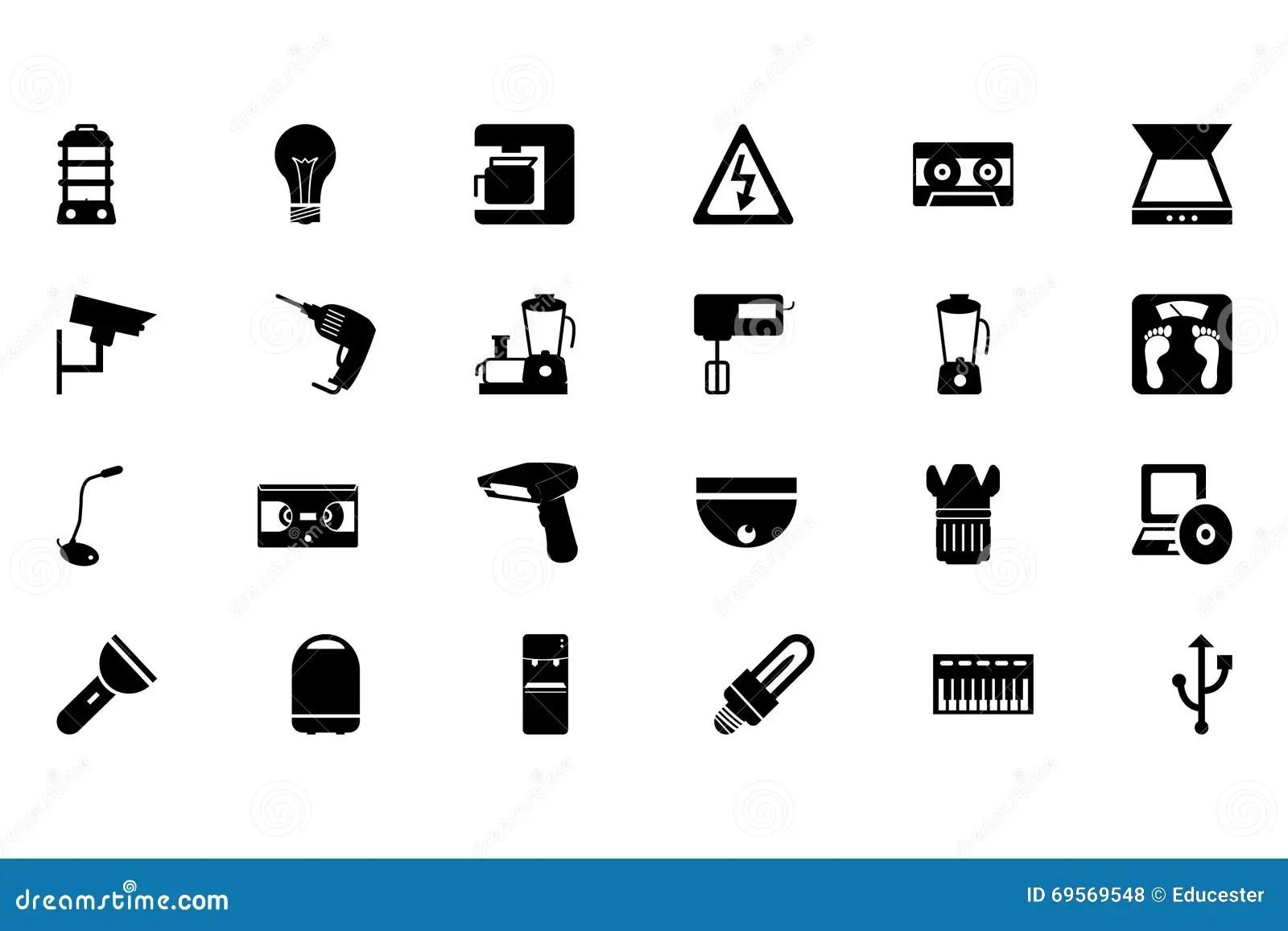 Electronics Vector Icons 4 Stock Illustration
