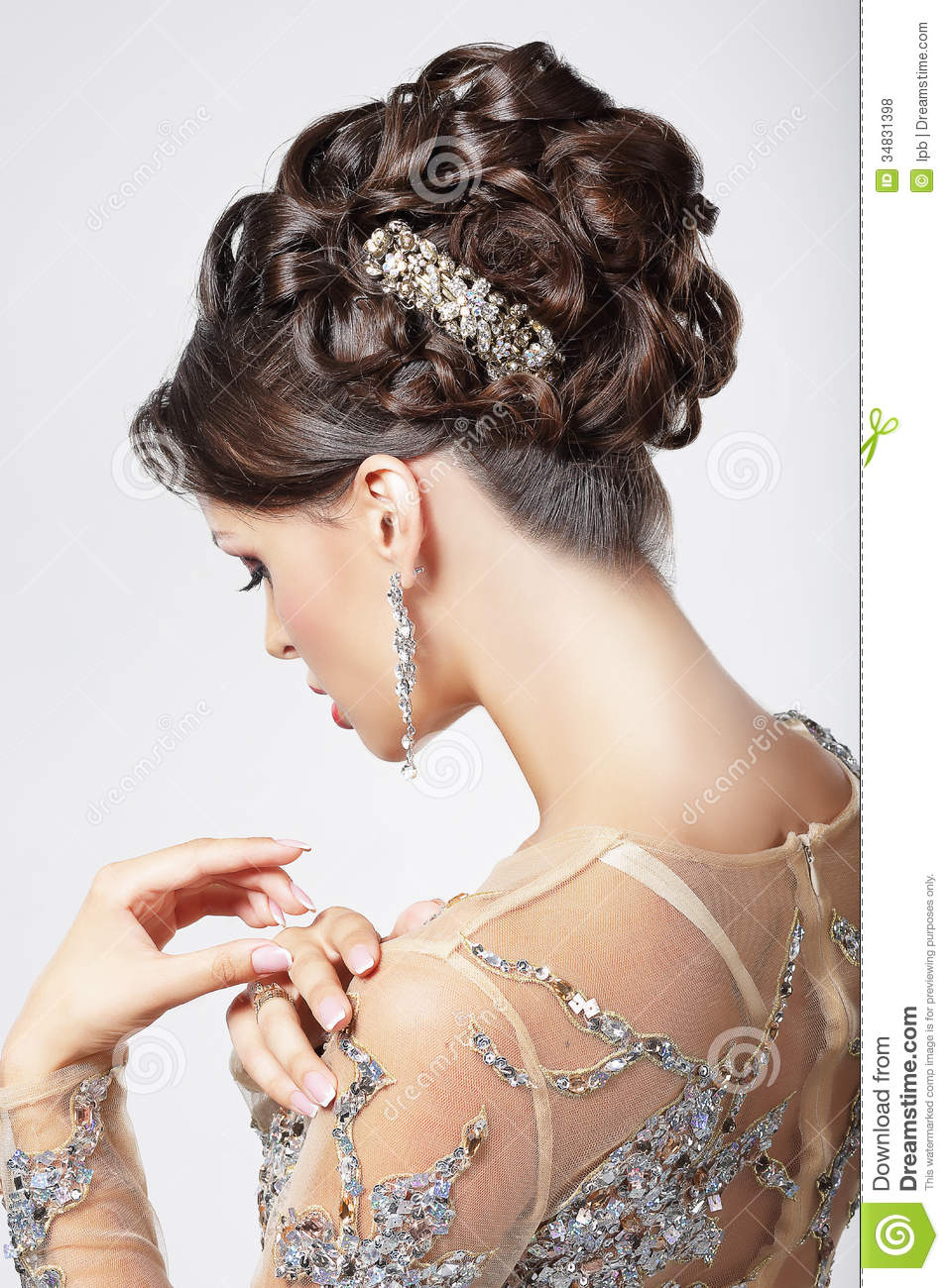 Elegance And Chic Beautiful Brunette With Classy