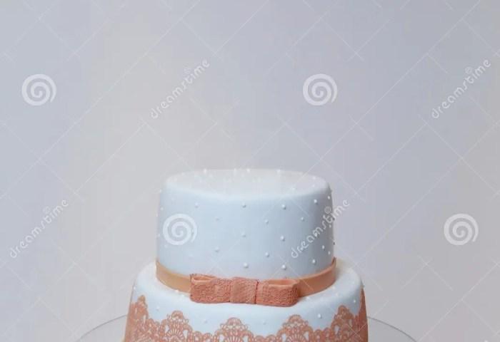 Elegant Birthday Cake With Orange Color Detail Stock Photo Image