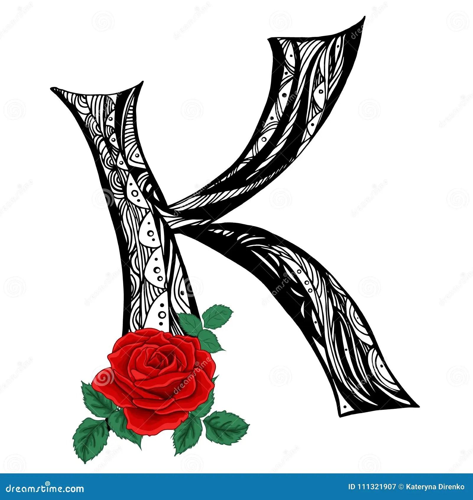 Letter K Black And White