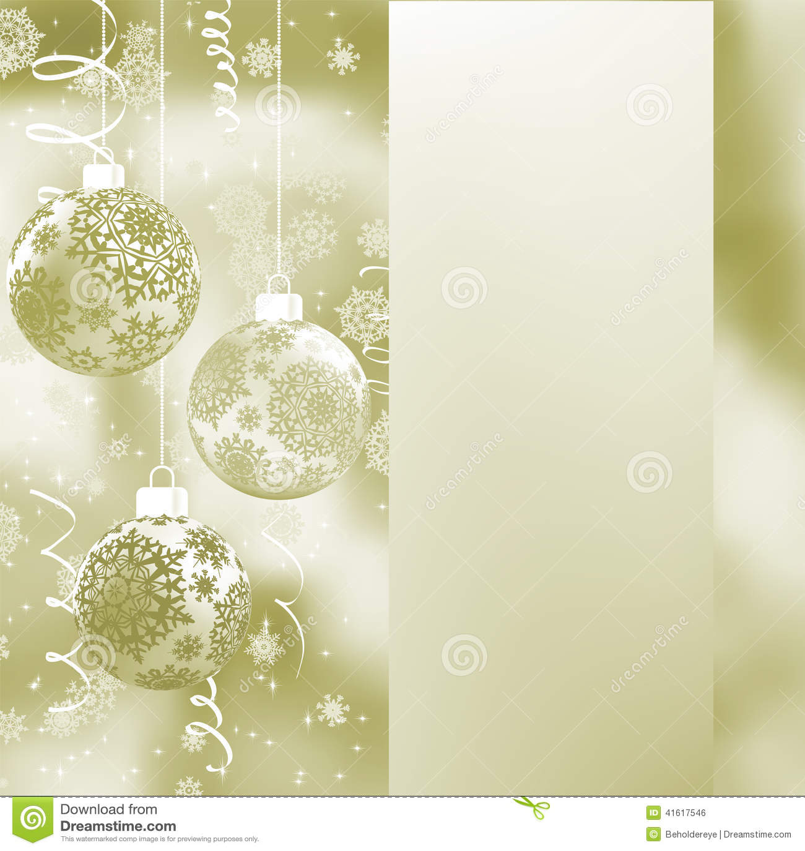 Elegant Christmas Background EPS 8 Stock Vector Image