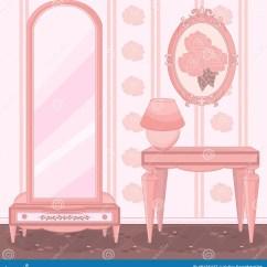 Bedroom Makeup Chair Dining Covers Crushed Velvet Elegant Dressing Room Stock Vector - Image: 48125447