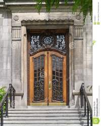 Elegant front door stock image. Image of stone, london