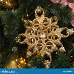 Elegant Gold Christmas Snowflake Ornament Stock Image Image Of Frozen Snowflake 172499427