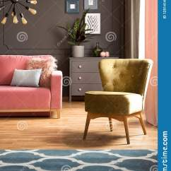 Dark Gray Living Room Rug Built Ins Elegant Green Armchair And A Blue With Pattern On Hardwood Floor In
