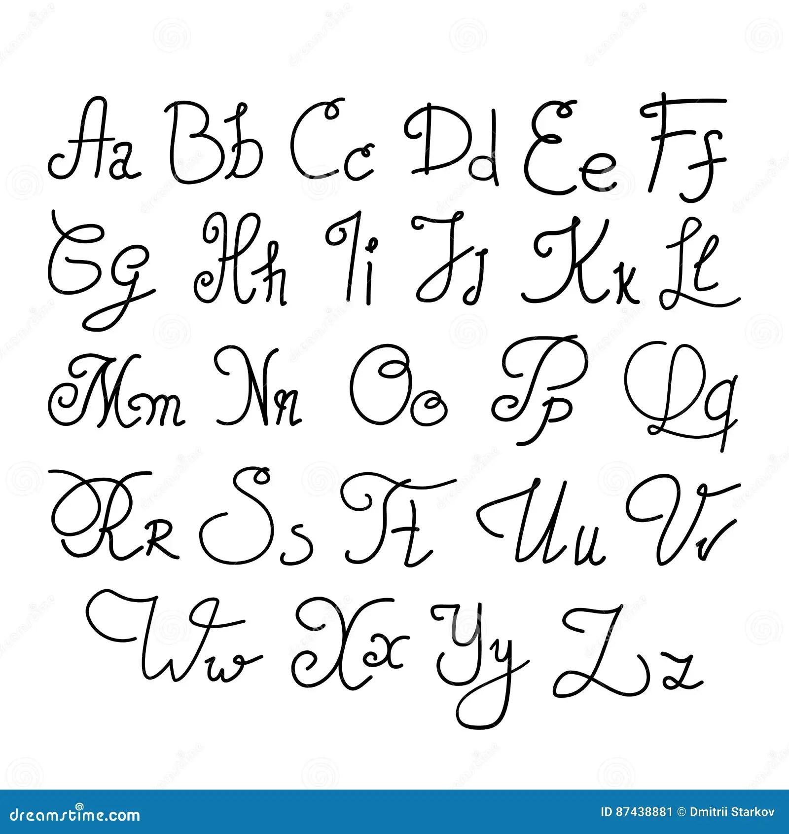 Elegant Handwritten Letters Stock Vector