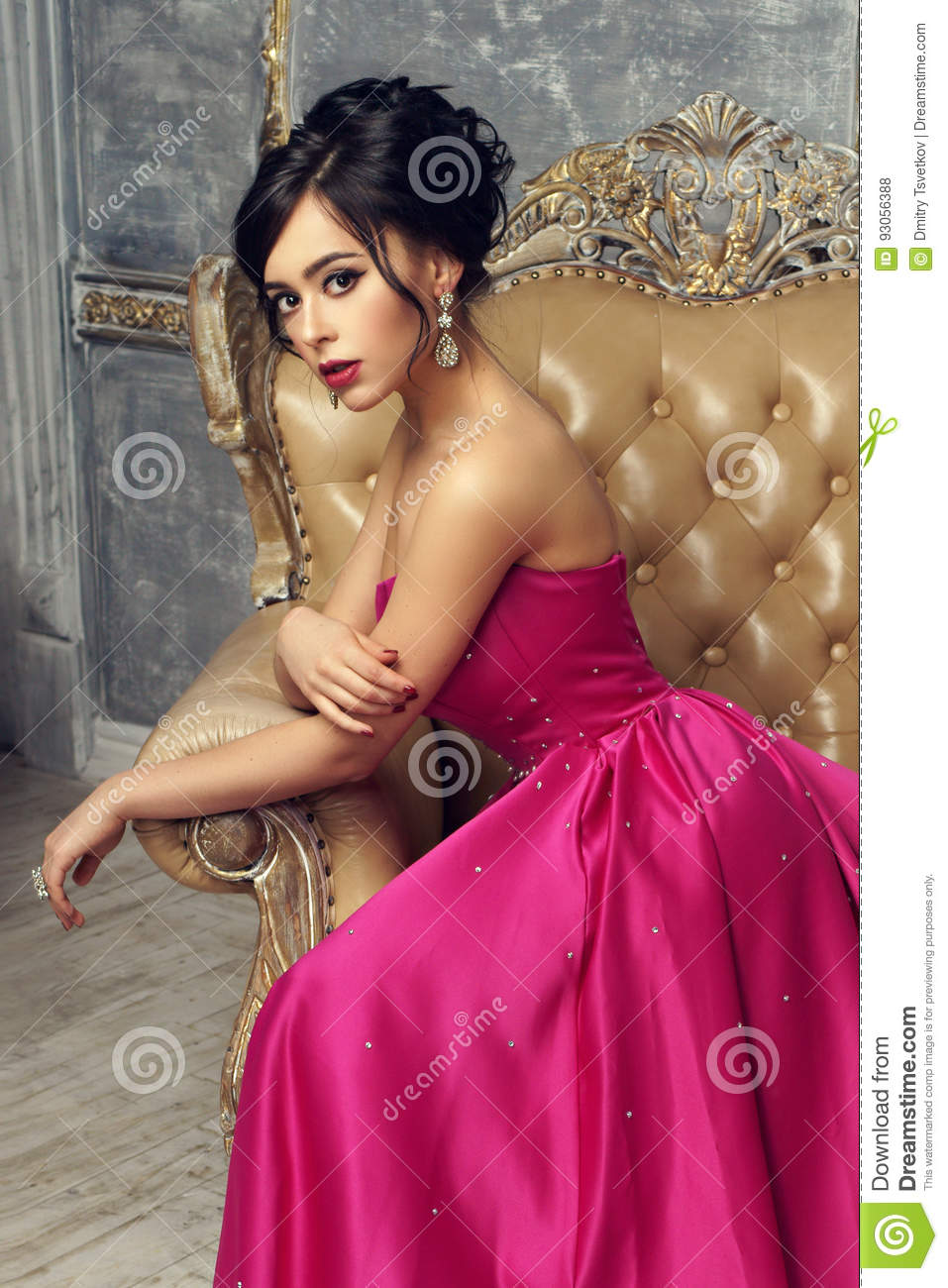 Elegant Lady Wearing Ball Gown Stock Photo  Image of