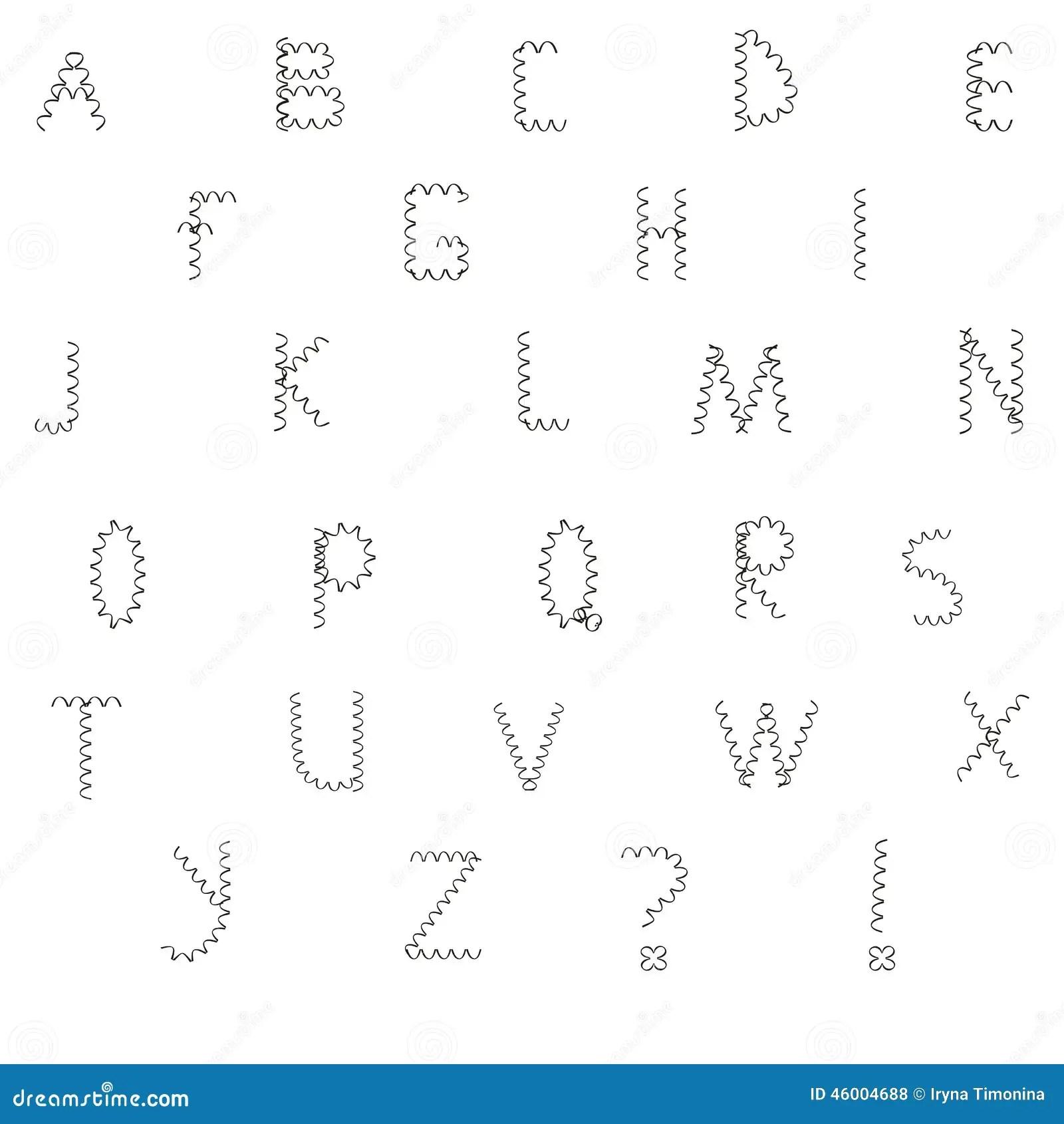 Circuit Board Font Vector Alphabet Cartoon Vector