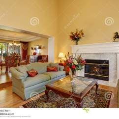 Elegant Living Rooms With Fireplaces Ikea Room Set Interior White Fireplace And Flowers Stock