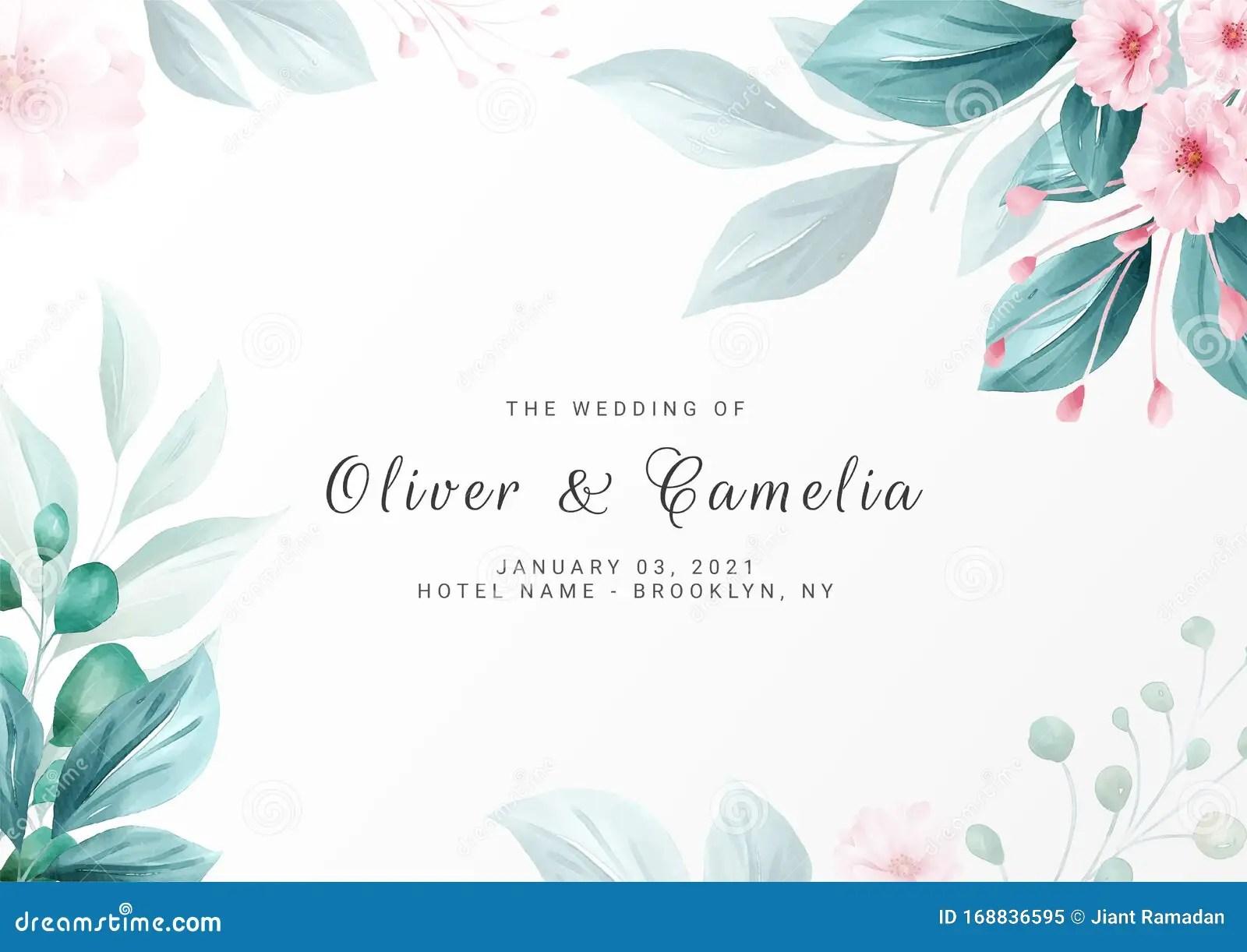 https www dreamstime com elegant minimalist floral background wedding invitation card template multi purpose save date greeting vector image168836595