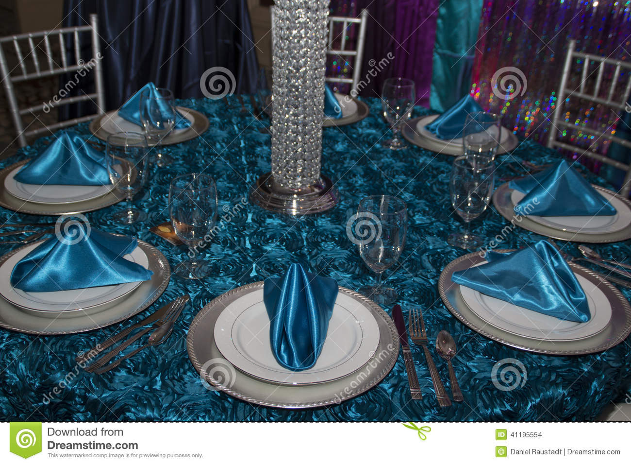 Elegant Modern Table Place Setting Stock Photo  Image 41195554