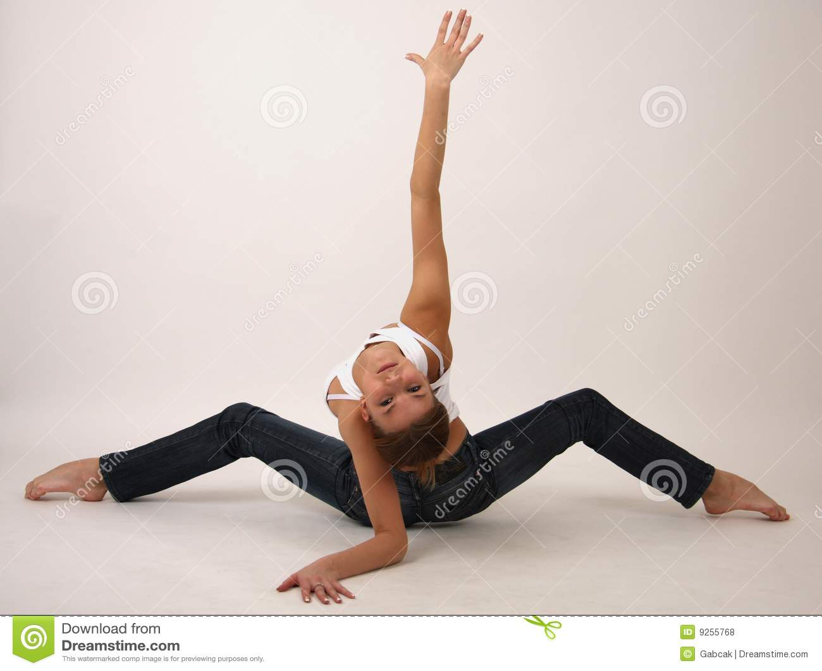 Elegant Young Flexible Woman Stock Photo  Image 9255768