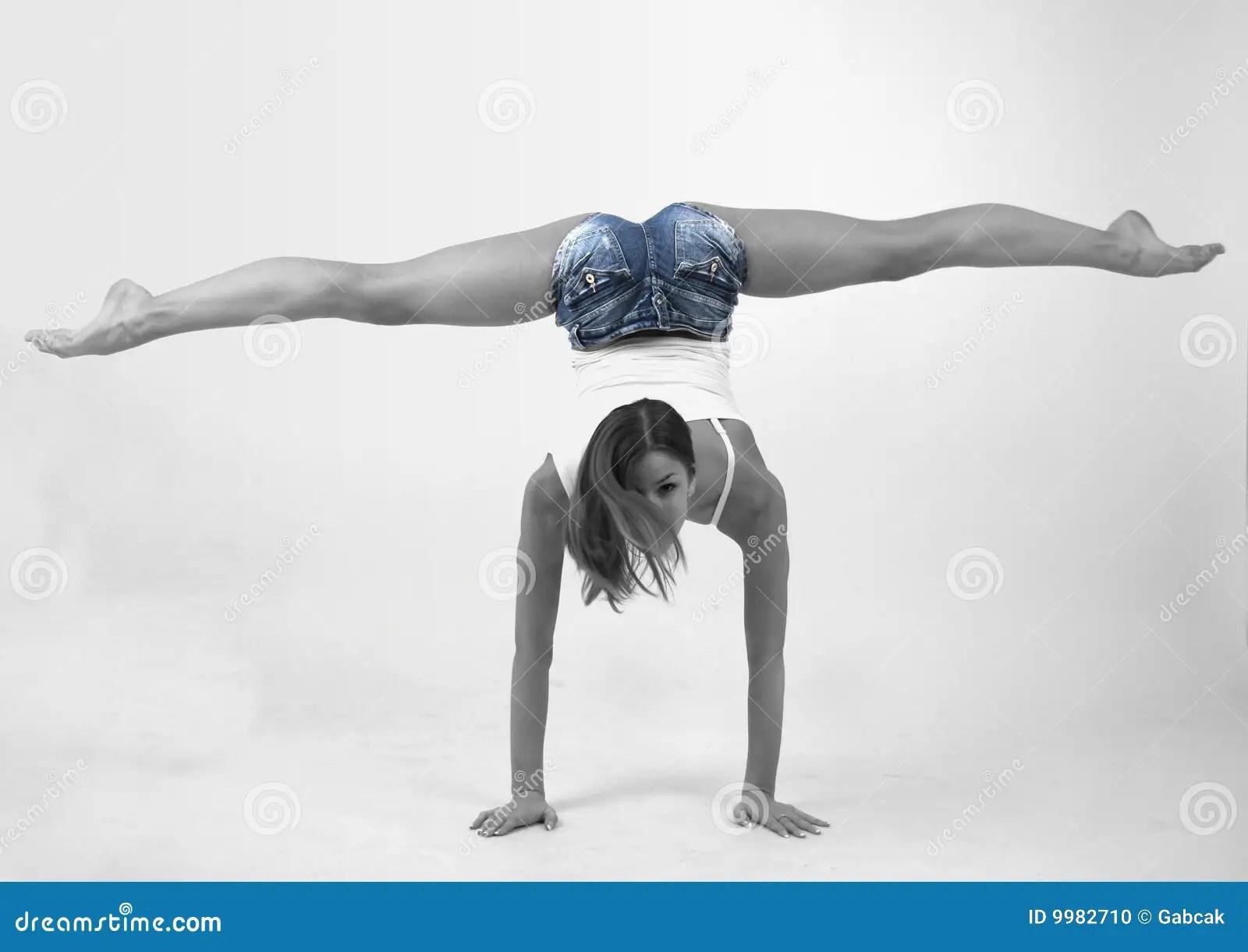 Elegant Young Flexible Woman Stock Photo  Image 9982710