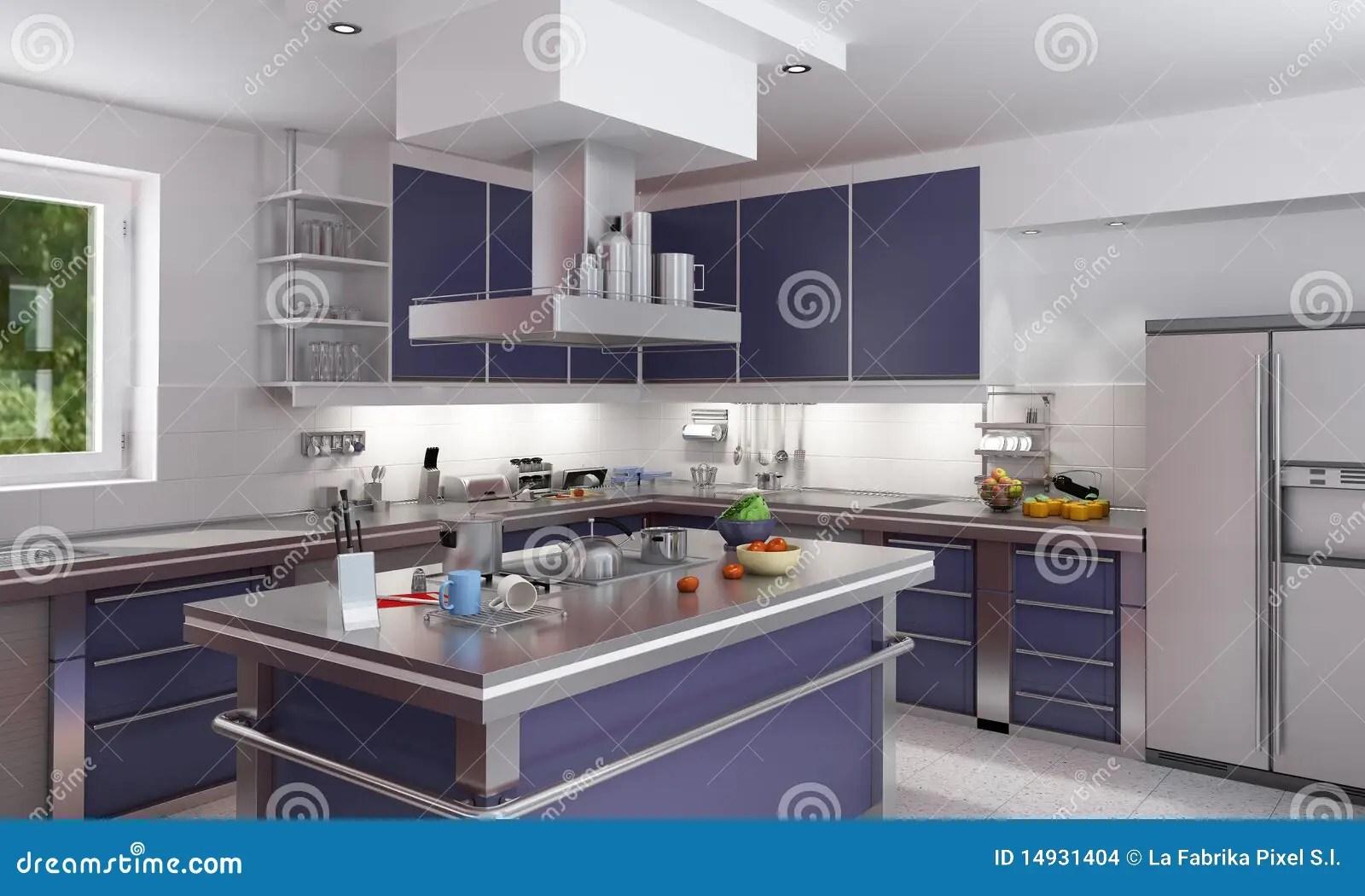 Blaue Kuchen Kuche Blaue Arbeitsplatte