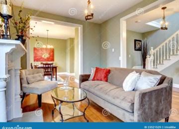 Groene Wand Woonkamer : Woonkamer met groene muren grijs groene muur elegant kleuren