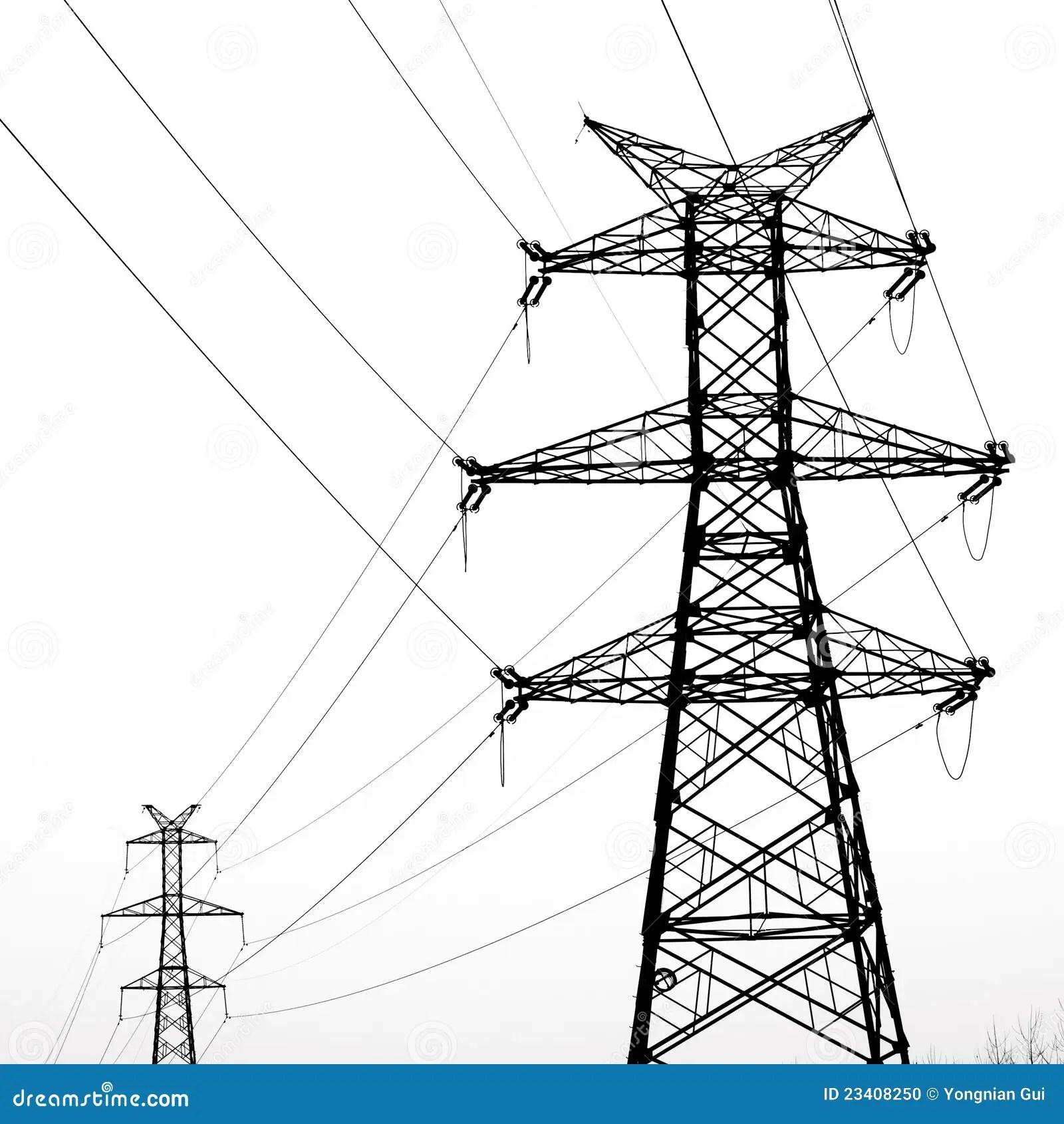 Elektrizitatsgondelstiel Stockfoto