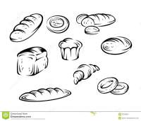 Elementos da padaria ilustrao do vetor. Ilustrao de ...