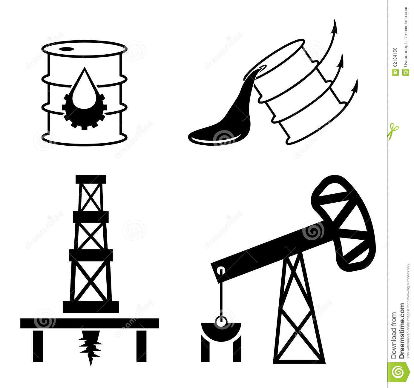 Elements And Symbol Of Fall And Rise Of Oil Prices Stock