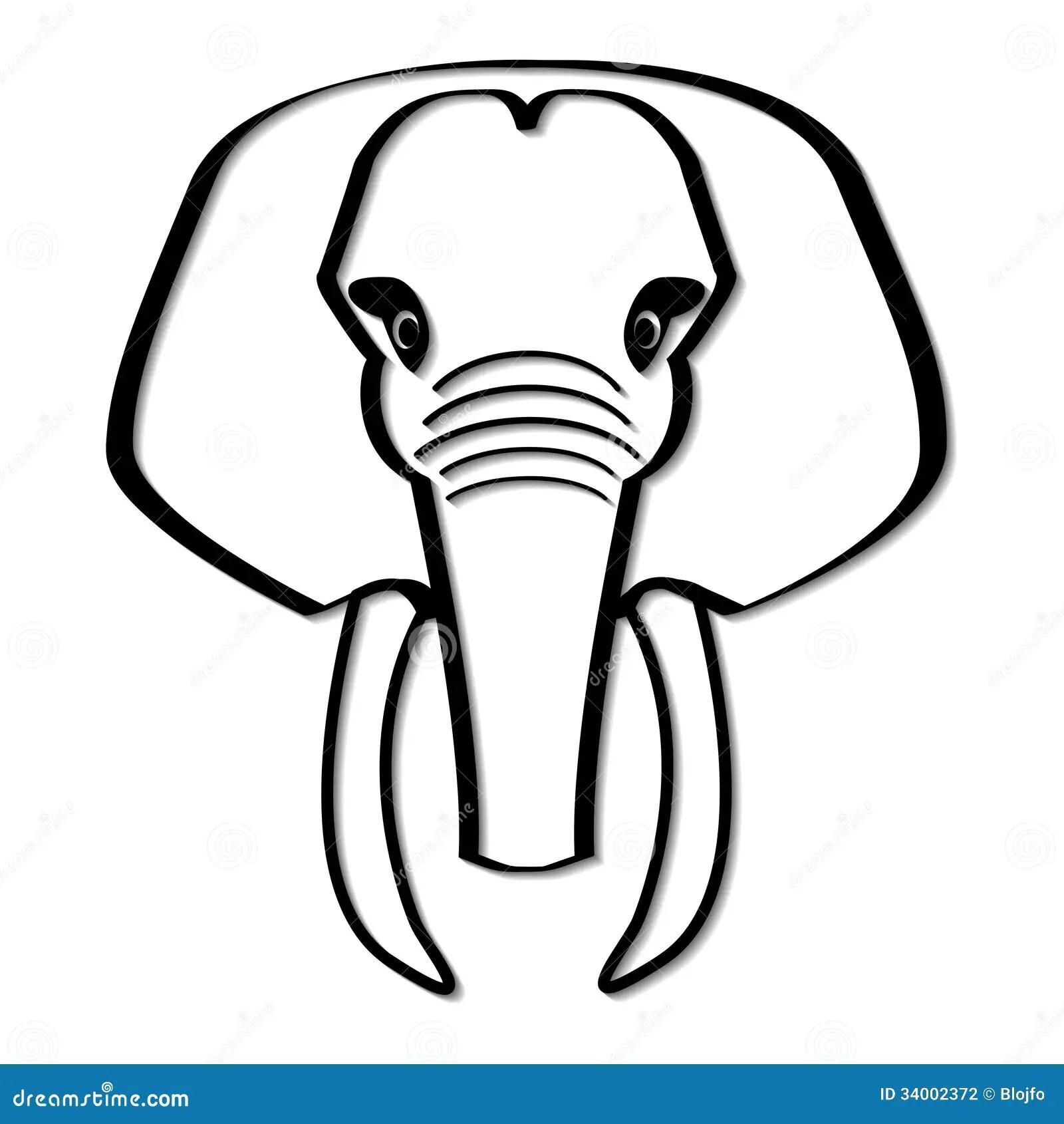 Elephant Stock Vector Illustration Of Graphic Tusk