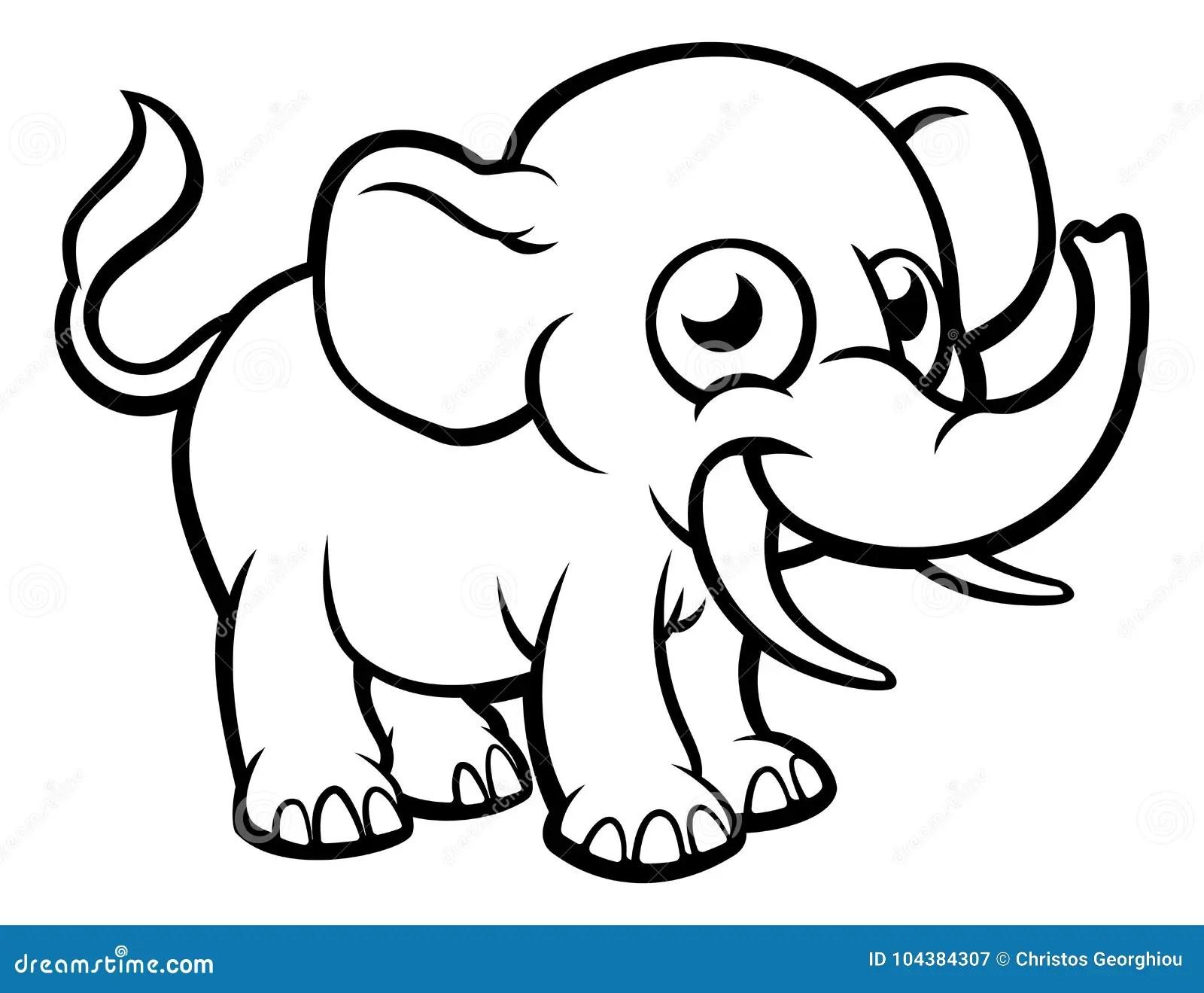 Cartoon Elephant Character Stock Vector Illustration Of Smiling