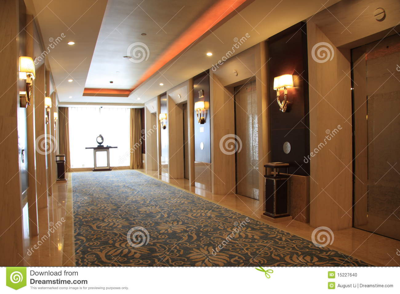Elevator hall stock photo Image of elegance grand elevator  15227640