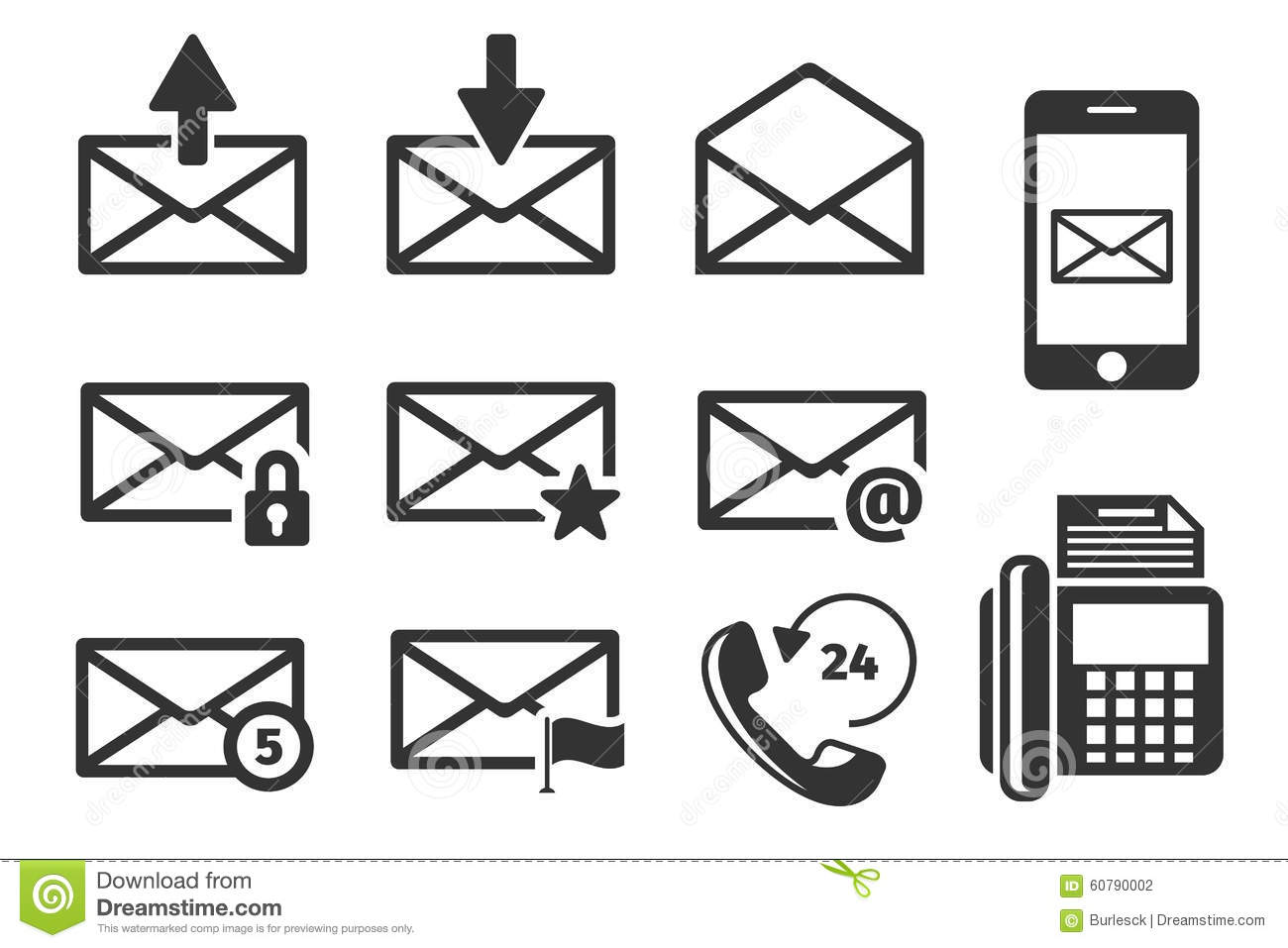 Incoming And Outgoing Email Vector Illustration