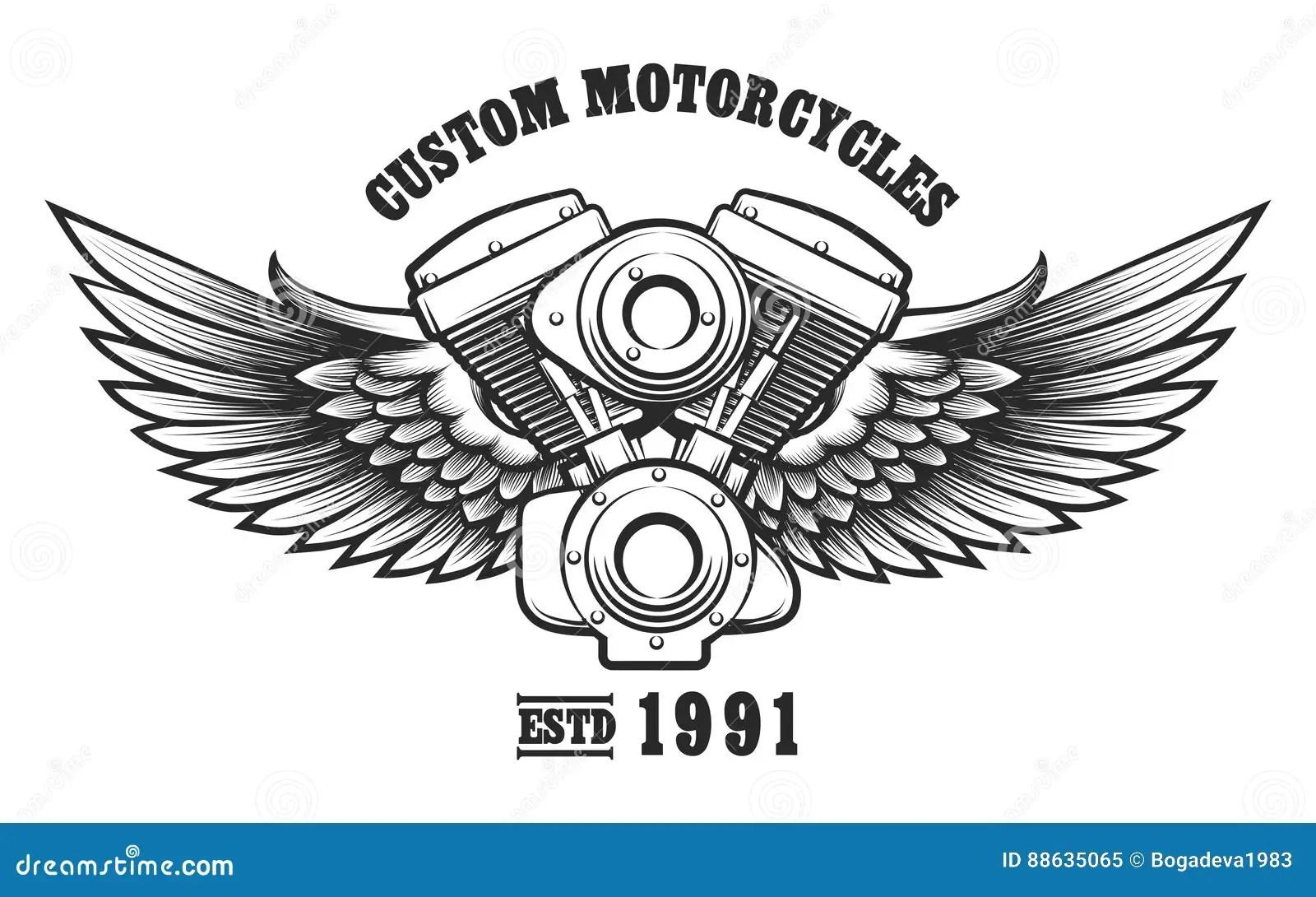 Emblema Feito Sob Encomenda Da Oficina Da Motocicleta