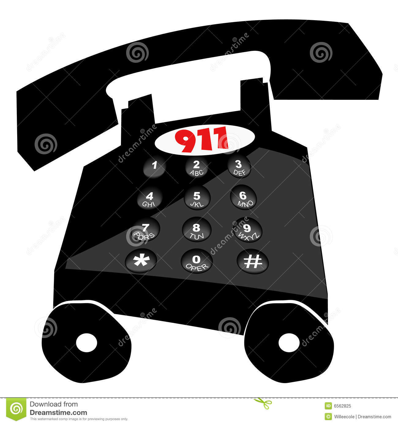 Emergency 911 Stock Vector Illustration Of Keys