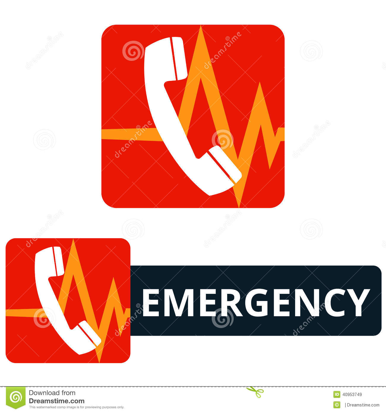 Emergency Call Icon Stock Vector Illustration Of