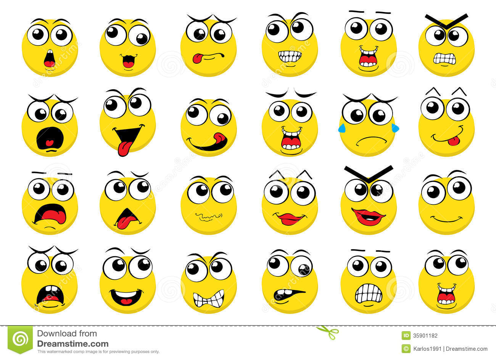 Emoticons Del Vector Ilustracion Del Vector Ilustracion