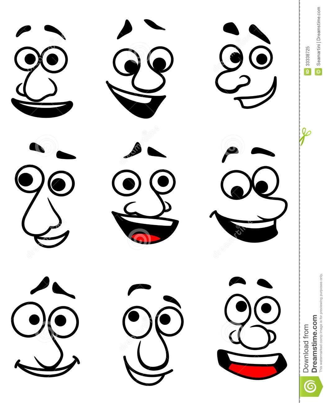 Emotional Faces Stock Vector Illustration Of Expressive