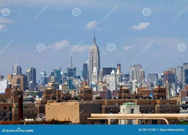 Empire State Building Brooklyn Bridge Editorial - 28112182