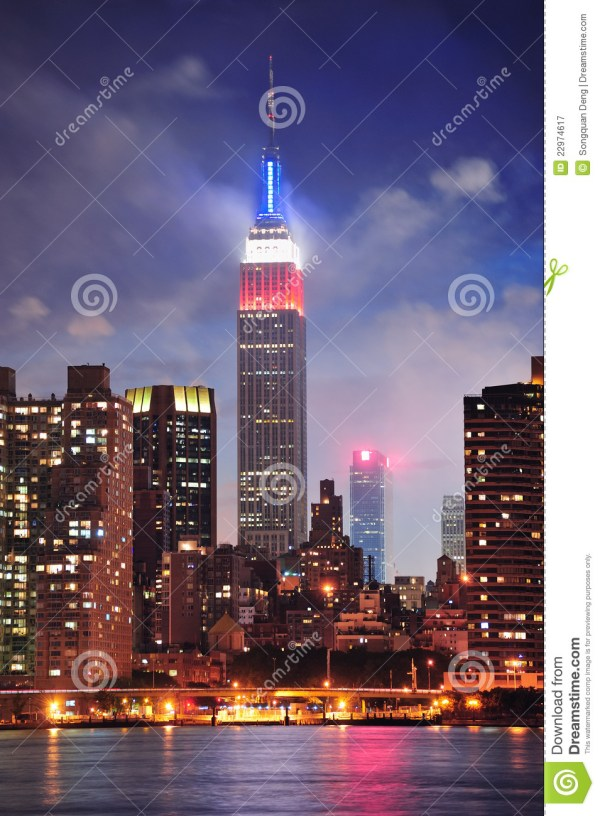 Empire State Building Night Editorial - 22974617