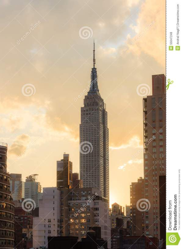 Empire State Building Sunset - York City Editorial #55047248