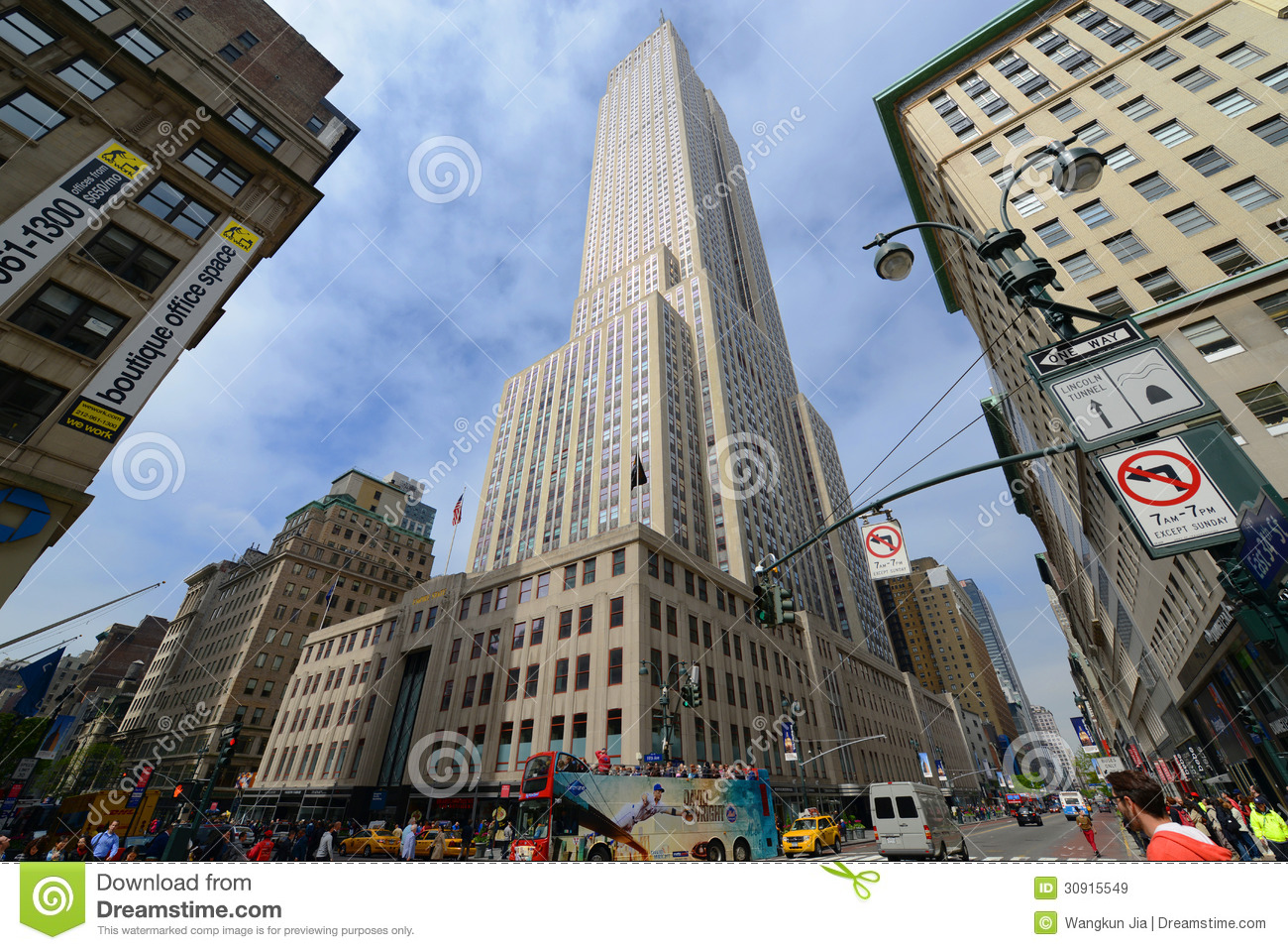 3d Sky Wallpapers Free Download Empire State Building Wide Angle Manhattan Editorial