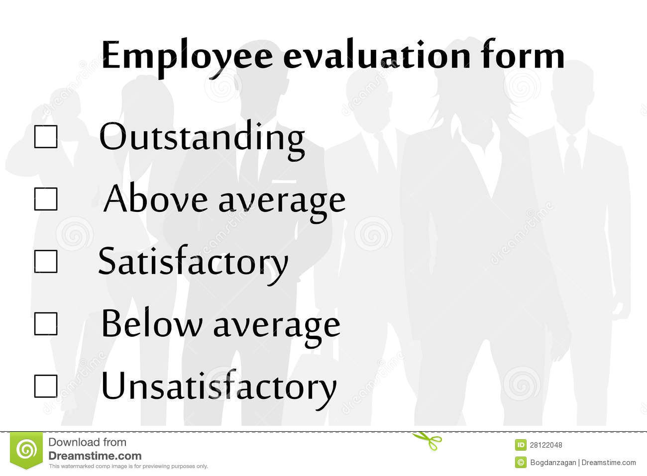 Royalty Free Stock Photos: Employee evaluation form. Image