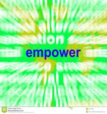 Empower Word Cloud Means Encourage Empowerment Royalty