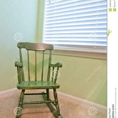 Infant Rocking Chair Leather Accent Chairs Empty Antique Child's Royalty Free Stock Images - Image: 19268429