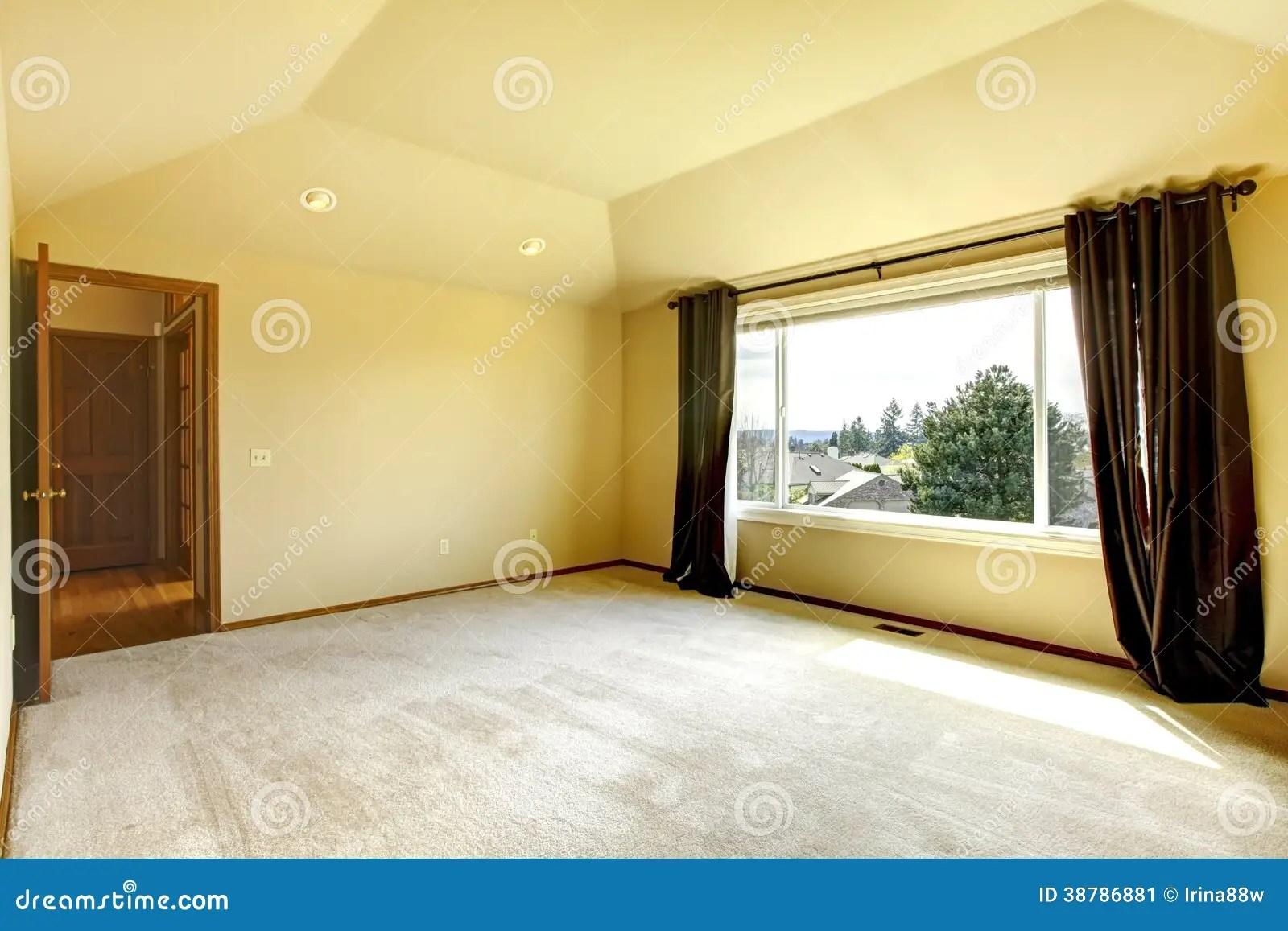 Empty bedroom stock image Image of interior open