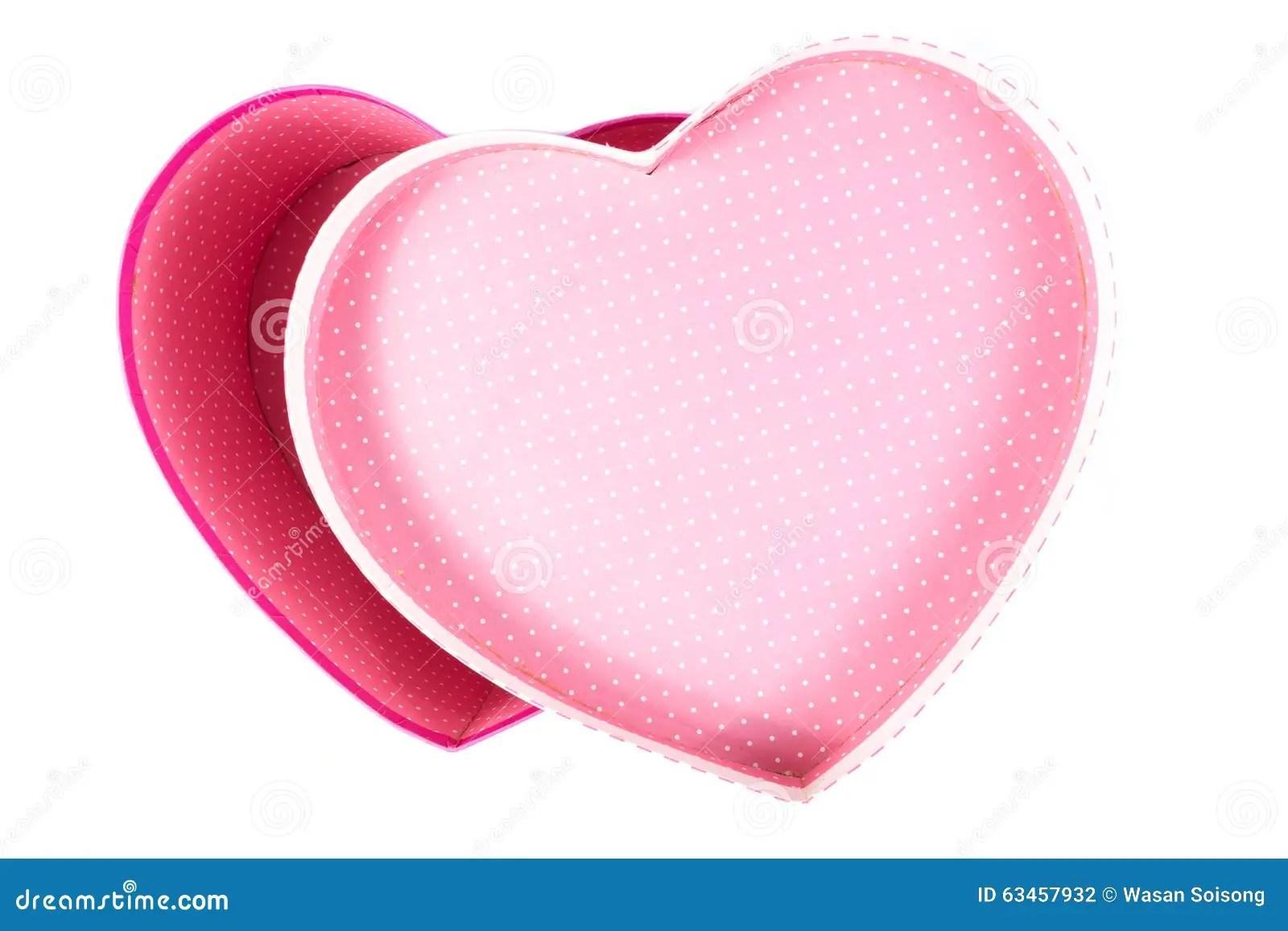 Emptyblank Heartlove Shape Gift Box Inside Top View