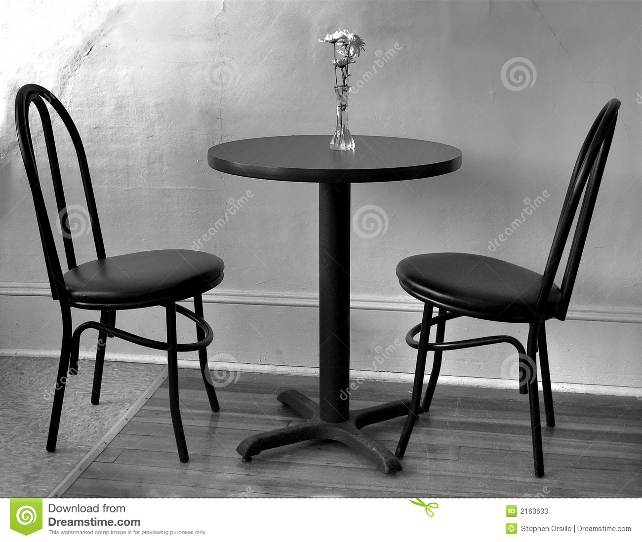 Empty cafe table stock image Image of flowers cracked